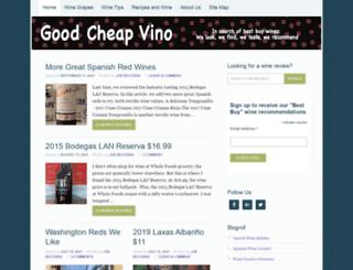 goodcheapvino.com screenshot