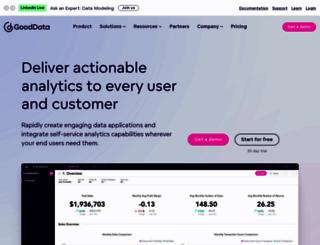 gooddata.com screenshot