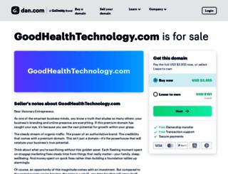 goodhealthtechnology.com screenshot