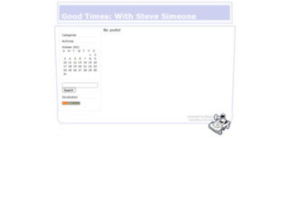 goodtimeswithstevesimeone.libsyn.com screenshot