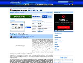 google-chrome.findmysoft.com screenshot