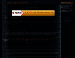googleadsensesecrects.blogspot.com screenshot