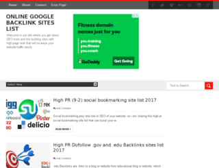googlebacklinksites.com screenshot