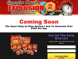 googlecashexplosion2.com screenshot
