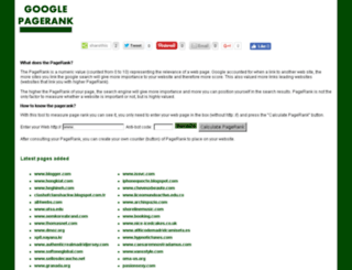 googlepagerank.es screenshot