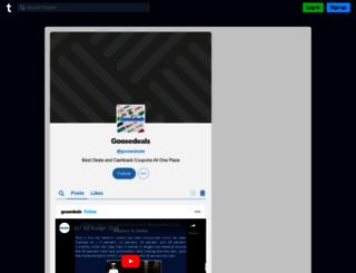 goosedeals.tumblr.com screenshot