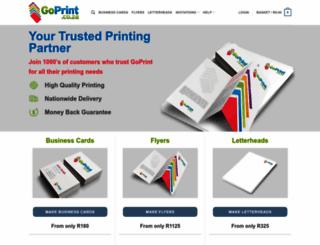 goprint.co.za screenshot
