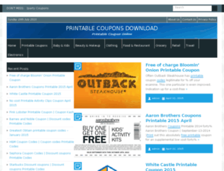 goprintablecoupons.com screenshot