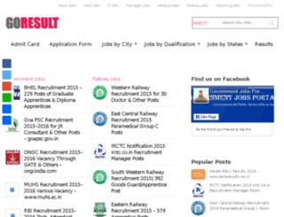 goresult.in screenshot