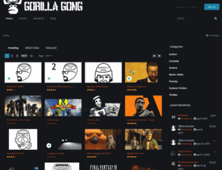 gorillagong.com screenshot