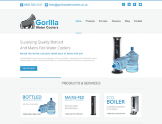 gorillawatercoolers.co.uk screenshot