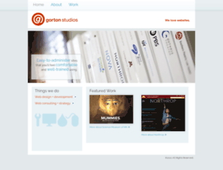 gortonstudios.com screenshot