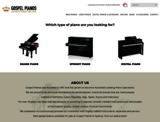 gospelpianos.com.au screenshot