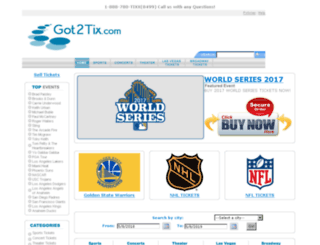 got2tix.com screenshot