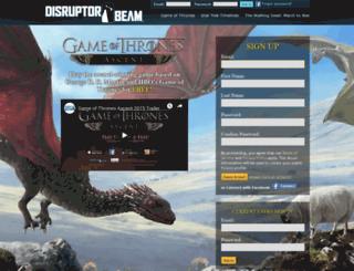 gota.disruptorbeam.com screenshot