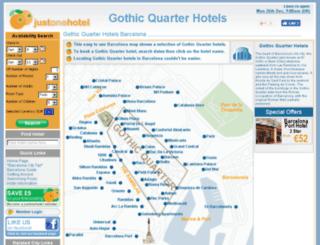 gothicquarterhotels.com screenshot