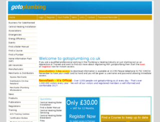 gotoplumbing.co.uk screenshot