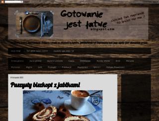 gotowanie-jest-latwe.blogspot.com screenshot
