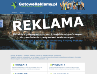 gotowereklamy.pl screenshot