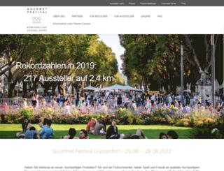 gourmetfestival-duesseldorf.de screenshot