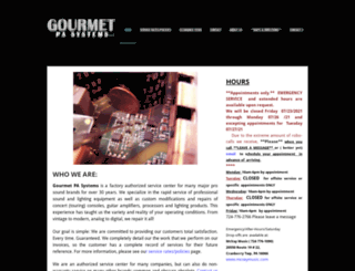 gourmetpa.com screenshot