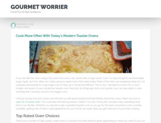 gourmetworrier.com screenshot