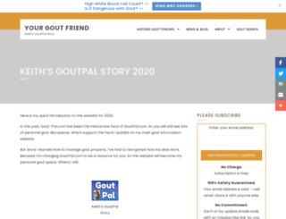 gout-pal.com screenshot