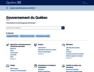 gouv.qc.ca screenshot