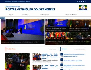 gouvernement.ga screenshot