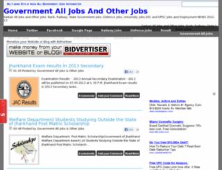 governmentalljobssarch.blogspot.in screenshot