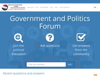 governmentandpolitics.net screenshot