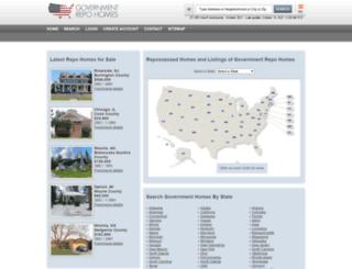 governmentrepohomes.com screenshot