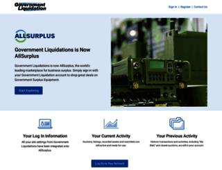govliquidation.com screenshot