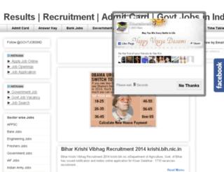 govtjobsind.com screenshot