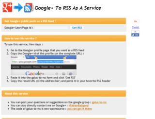 gplus-to-rss.appspot.com screenshot