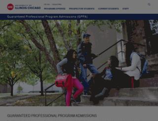 gppa.uic.edu screenshot