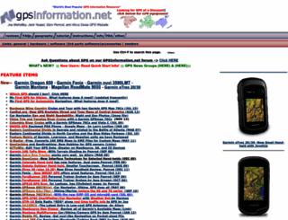 gpsinformation.net screenshot