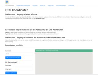 gpskoordinaten.de screenshot