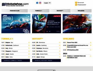 gpticketshop.com screenshot