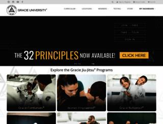 gracieuniversity.com screenshot