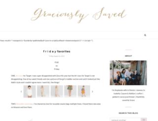 graciouslysaved.com screenshot