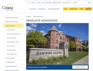 grad.canisius.edu screenshot