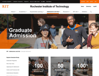 grad.rit.edu screenshot