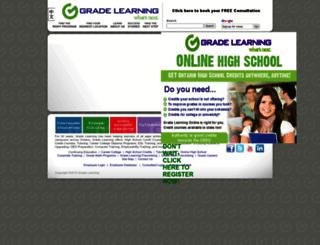 gradelearning.ca screenshot