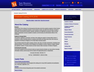 graduate-catalog-2015-2016.shsu.edu screenshot