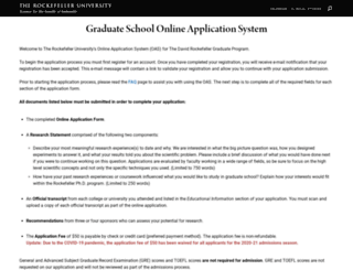 graduateapplication.rockefeller.edu screenshot