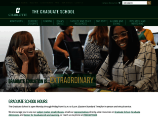 graduateschool.uncc.edu screenshot
