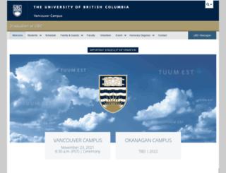 graduation.ubc.ca screenshot