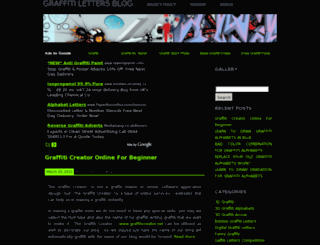 graffitilettersblog.com screenshot