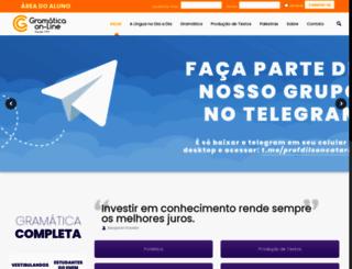 gramaticaonline.com.br screenshot